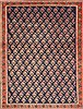 Shahre Babak Blue Hand Knotted 42 X 56  Area Rug 100-10519 Thumb 0