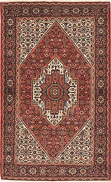 "Gholtogh Red Hand Knotted 4'2"" X 6'8""  Area Rug 100-10523"