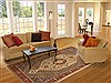 Bakhtiar Green Hand Knotted 78 X 100  Area Rug 100-10539 Thumb 4