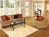 Oushak Beige Hand Knotted 40 X 62  Area Rug 100-10544 Thumb 5