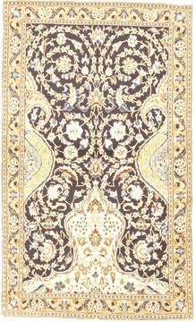 "Nain Blue Hand Knotted 3'11"" X 6'8""  Area Rug 100-10551"
