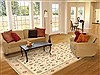 Kashan Beige Hand Knotted 80 X 99  Area Rug 100-10579 Thumb 4