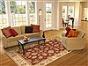 Ziegler Red Hand Knotted 80 X 105  Area Rug 100-10618 Thumb 4