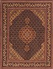 Tabriz Black Hand Knotted 49 X 69  Area Rug 100-10627 Thumb 0