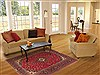 Kashan Red Hand Knotted 48 X 75  Area Rug 100-10631 Thumb 5