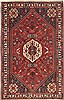 Qashqai Red Hand Knotted 53 X 82  Area Rug 100-10634 Thumb 0
