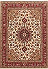 Tabriz Beige Hand Knotted 411 X 611  Area Rug 100-10675 Thumb 0