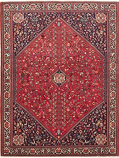Persian Abadeh Red Rectangle 5x7 ft Wool Carpet 10707