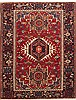 Karajeh Red Hand Knotted 52 X 66  Area Rug 100-10716 Thumb 0