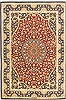 Qum Red Hand Knotted 43 X 63  Area Rug 100-10721 Thumb 0