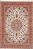 Tabriz Beige Hand Knotted 83 X 118  Area Rug 100-10735 Thumb 0