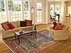 Mahal Blue Hand Knotted 82 X 113  Area Rug 100-10745 Thumb 4