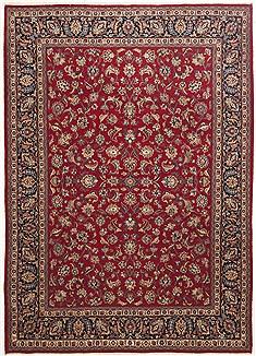 "Persian Mashad  Wool Red Area Rug  (8'0"" x 11'3"") - 100 - 10746"