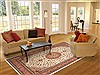 Tabriz Beige Hand Knotted 84 X 112  Area Rug 100-10747 Thumb 4