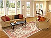Tabriz Beige Hand Knotted 80 X 111  Area Rug 100-10749 Thumb 4