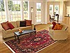 Mashad Red Hand Knotted 82 X 110  Area Rug 100-10754 Thumb 4