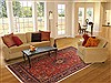 Yazd Red Hand Knotted 80 X 112  Area Rug 100-10756 Thumb 4