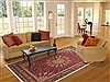 Tabriz Red Hand Knotted 83 X 112  Area Rug 100-10760 Thumb 4