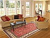Kashan Red Hand Knotted 82 X 113  Area Rug 100-10770 Thumb 4