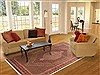 Sanandaj Red Hand Knotted 85 X 113  Area Rug 100-10771 Thumb 4