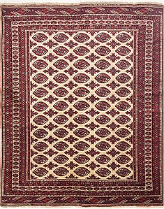 "Turkman Red Square Hand Knotted 7'0"" X 8'6""  Area Rug 100-10821"