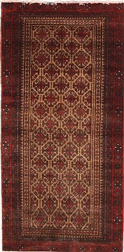 Persian Abadeh Red Rectangle 3x5 ft Wool Carpet 10851