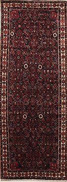 "Hamedan Red Runner Hand Knotted 3'8"" X 9'11""  Area Rug 100-10852"