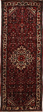 "Hamedan Red Runner Hand Knotted 3'6"" X 9'6""  Area Rug 100-10853"