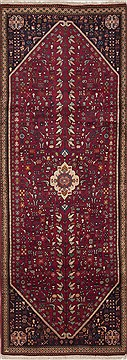Persian Abadeh Purple Runner 6 to 9 ft Wool Carpet 10861