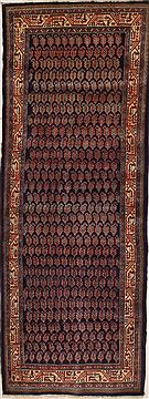 Persian Hamedan Purple Runner 10 to 12 ft Wool Carpet 10868