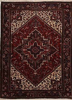 "Goravan Red Hand Knotted 7'8"" X 10'0""  Area Rug 100-10880"