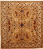 Chobi Brown Hand Knotted 85 X 96  Area Rug 100-10889 Thumb 0