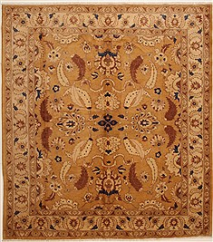 Pakistani Chobi Brown Rectangle 8x10 ft Wool Carpet 10889