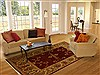 Chobi Red Hand Knotted 80 X 98  Area Rug 100-10896 Thumb 4