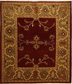 Pakistani Chobi Red Rectangle 8x10 ft Wool Carpet 10896