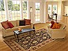 Pak-Persian Beige Hand Knotted 80 X 103  Area Rug 100-10917 Thumb 4