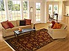 Jaipur Red Hand Knotted 82 X 103  Area Rug 100-10918 Thumb 4