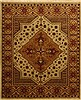 Turkman Brown Hand Knotted 82 X 99  Area Rug 100-10922 Thumb 0