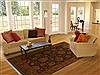 Jaipur Brown Hand Knotted 81 X 104  Area Rug 100-10923 Thumb 4
