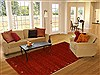 Gabbeh Red Hand Knotted 60 X 90  Area Rug 100-10931 Thumb 4