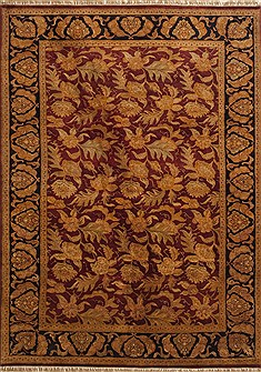 "Jaipur Red Hand Knotted 8'11"" X 12'3""  Area Rug 100-10957"