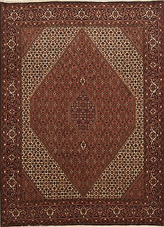 "Bidjar Red Hand Knotted 8'3"" X 11'6""  Area Rug 100-10986"