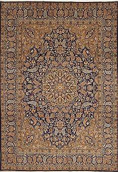 Persian Kerman Blue Rectangle 9x12 ft Wool Carpet 10987