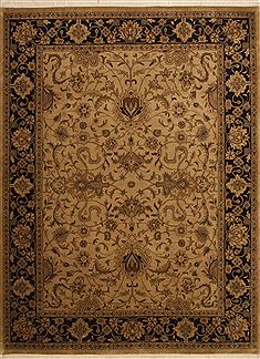 "Mashad Yellow Hand Knotted 8'11"" X 12'0""  Area Rug 100-10988"