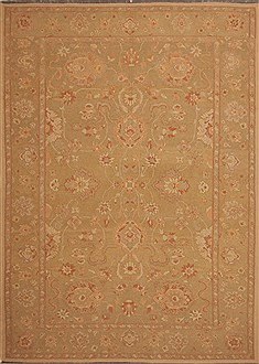 Persian Jaipur Green Rectangle 9x12 ft Wool Carpet 10995