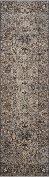 Nourison Malta Grey Runner 6 to 9 ft Polypropylene Carpet 100015