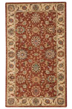 "Nourison Living Treasures Red 2'6"" X 4'3"" Area Rug  805-100440"