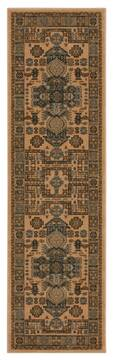 "Nourison Maymana Brown Runner 2'2"" X 7'6"" Area Rug  805-100694"