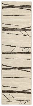 "Michael Amini MA05 GLISTNING NGHTS Beige Runner 2'2"" X 7'6"" Area Rug 99446280497 805-100866"