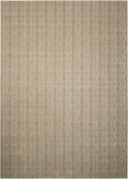Nourison NEPAL Grey Rectangle 8x11 ft Wool Carpet 101046